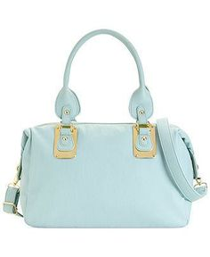 A tried and true baby blue satchel by Steve Madden