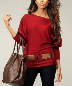 Red Dolman Sweater #zulily #zulilyfinds