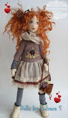 Текстильные куклы Гульнары Сулеймановой. Уфа, Россия – 25 фотографий