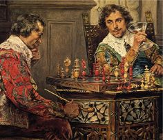 The Chess Player Painting | Strategic Methods in Chess: Tie Them Down Here, Then Strike Them ...