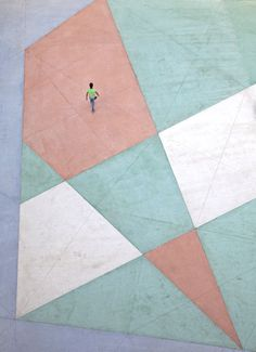 Walking on a living canvas by Serge Najjar