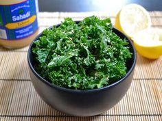 Tahini kale salad - on the menu tonight Detox Diet Recipes, Kale Recipes, Raw Food Recipes, Great Recipes, Healthy Recipes, Vegan Food, Yummy Recipes, Favorite Recipes, Veggie Dishes