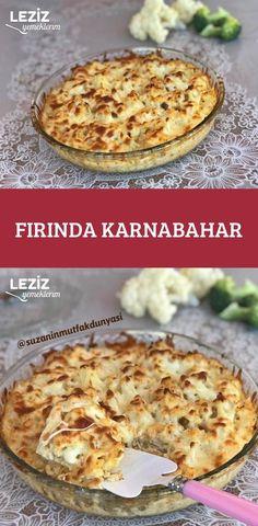 Fırında Karnabahar Turkish Kitchen, Turkish Recipes, Cauliflower Recipes, Iftar, Main Dishes, Veggies, Appetizers, Food And Drink, Yummy Food