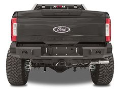 FAB FOURS PREMIUM REAR BUMPER TRUCK FITMENT: 1999-2016 7.3L/6.0L/6.4L/6.7L F250/F350 FORD   Fab Fours Ford Super Duty rear replacement bumper integrates the existing receiver hitch. In addition to add