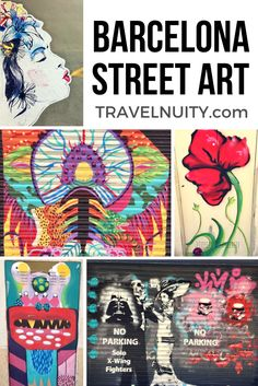 Come and explore the colourful street art of Barcelona, Spain