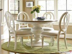 Meble Stylowe Amerykańskie OKRĄGŁY STÓŁ z krzesłami