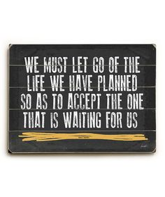 Yes. :: 'We Must Let Go' Wall Art
