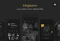 다음 @Behance 프로젝트 확인: \u201cELEGANCE - Luxury Fashion Web & Mobile UI Kit\u201d https://www.behance.net/gallery/45603207/ELEGANCE-Luxury-Fashion-Web-Mobile-UI-Kit