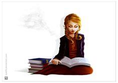 The book thief by RenanMoraes.deviantart.com on @DeviantArt