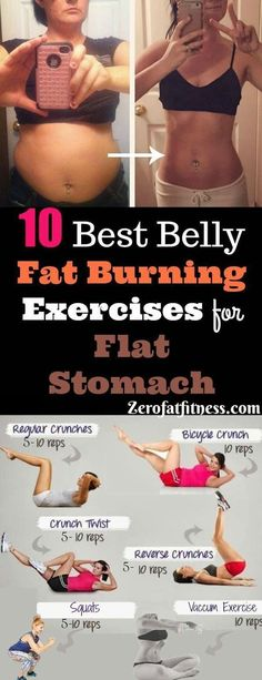 Workout Exercise 10 Best Belly Fat Burning Exercises for Flat Stomach: Vacuum Stomach Exercise, Lunges Belly Fat Exercise, Mountain Climber Exercise and Lose Weight Quick, Quick Weight Loss Tips, Weight Loss Help, Loose Weight, Lose Fat, Weight Gain, Reduce Weight, Losing Weight, Healthy Weight