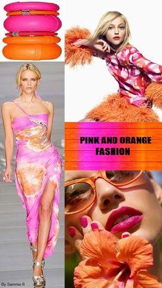 Pink and Orange Fashion By Sammie R
