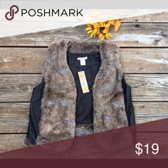 """DKNY  Faux Fur Vest- small, """"FINAL PRICE"""" MUST HAVEPerfect with jeans & boots DKNY Jackets & Coats Vests"""