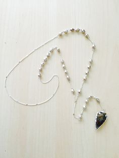 Jasper Arrowhead Rosary by BrianneCossette on Etsy