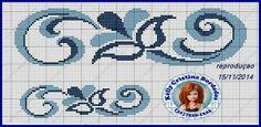 Arabesco p toalha Cross Stitch Boarders, Cross Stitching, Cross Stitch Patterns, Beaded Embroidery, Cross Stitch Embroidery, Tapestry Crochet, Loom Beading, Needlepoint, Needlework