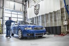 Time to get started on a thorough hand wash for this blue Audi S4 Avant
