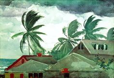 WInslow Homer - Hurricane, Bahamas, 1898.  The Metropolitan Museum of Art