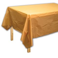 Gold Shimmer Theme Party Plastic Table Covers from Windy City Novelties