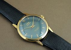 Vintage HMT Sona Hand Wind 17J India Mechanical Watch Greyis Dial GoldPlate Case #HMT #Casual