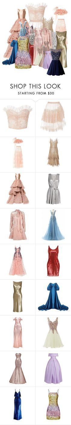 """The brides dresses"" by ginny-lover ❤ liked on Polyvore featuring Rodarte, Isabel Sanchis, BB Dakota, Elie Saab, Nili Lotan, Mark Bumgarner, Naeem Khan and Ashish"