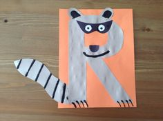R is for Raccoon Craft - Preschool Craft - Letter of the Week Craft - Kids Craft