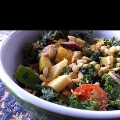 Rockin kale salad Kale Salad, Pasta Salad, Potato Salad, Salt, Potatoes, Sugar, Ethnic Recipes, Free, Potato