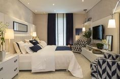 Home Decoration On A Budget 40 Navy Master Bedroom Decor Ideas Decoration On A Budget 40 Navy Master Bedroom Decor Ideas Dream Rooms, Dream Bedroom, Home Bedroom, Bedroom Decor, Decor Room, Casual Bedroom, Bedroom Ideas, Bedroom Curtains, Design Bedroom