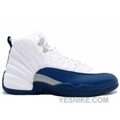 new concept f6f33 c938e New Styles Air Jordan Xii 12 Retro Mens Basketball Shoes White French Blue  Outlet Factory