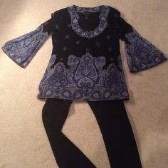 Flared sleeved blouse INC blouse with fun party sleeves. INC International Concepts Tops Blouses