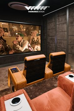 Home Cinema Room, Home Theater Rooms, Home Theater Seating, Cinema Seats, Movie Nights, Home Cinemas, Chair Design, Game Room, Guest Room