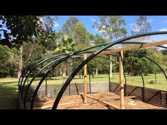 Green House Garden Structure over Veggie Patch low cost DIY instruction with plans - YouTube