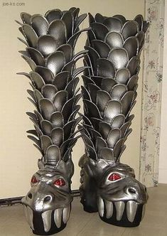 recreation of the gene simmons destroyer kiss boots made with leather. by edward przydzial. Funky Shoes, Crazy Shoes, Me Too Shoes, Weird Shoes, Gene Simmons, Kiss Boots, Hot Band, Unique Shoes, Creative Shoes