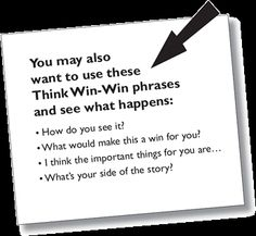 Think Win-Win Phrases | Think Win-Win is Habit 4 of The 7 Habits of Highly Effective People®