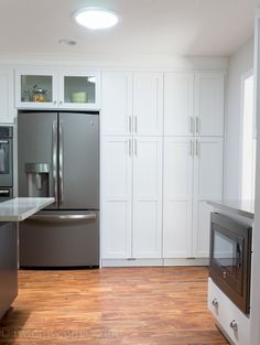 Love the Slate appliances from GE! No fingerprints - and the inside of these cabinets are so awesome! I need to figure out how to make this kitchen mine!