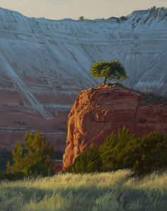Sunset at Kodachrome State Park  Utah 1 by Dennis Farris Oil ~ 20 x 16
