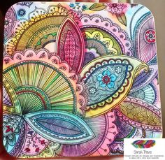 Fairground Paisley Coaster 4 pack by SarahTravisArt on Etsy
