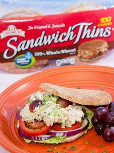 Chicken Salad Recipe On Sandwich Thins - Farmer's Wife Rambles Best Dinner Recipes, Lunch Recipes, Healthy Recipes, Yummy Recipes, Healthy Food, Tasty Recipe, Sandwich Thins, Sandwiches For Lunch, Salad Sandwich