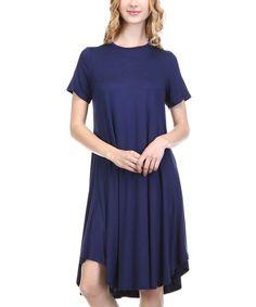 Another great find on #zulily! Navy Modal-Blend T-Shirt Dress by LARA Fashion #zulilyfinds