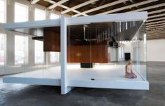 Gravity is a Force to be Reckoned With by Iñigo Manglano-Ovalle | Inverted replica of Mies' 50×50 House project.
