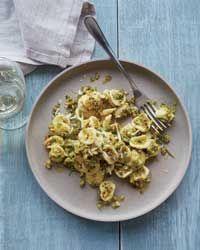 Orecchiette with Pistachio Pesto Recipe AB: Very simple to make.  Will consider adding crushed red pepper to the pesto. @foodandwine