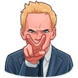 Sticker pack of Barney Stinson a fictional character from CBS television series How I Met Your Mother Barney Stinson Meme, Barney And Robin, Yellow Umbrella, Telegram Stickers, Neil Patrick Harris, Himym, How I Met Your Mother, Alyson Hannigan, Celebrity Babies