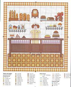 0 point de croix boulangère - cross stitch baker girl
