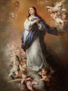 Pinterest Religious Images, Religious Art, Immaculée Conception, The Immaculate Conception, Esteban Murillo, National Gallery, Images Of Mary, Baroque Art, Baroque Painting