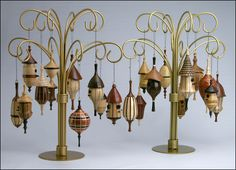 Assorted Birdhouse Ornaments by Don Leman