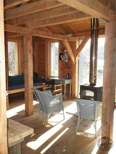 Timber Framed and Clad Bothy Interior
