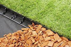 geoBORDER Rasenkante Beeteinfassung Land-Grid Beetumrandung Raseneinfassung Pflastersteine Mähkante (7.8) + 3 Nägel pro Meter: Amazon.de: Garten