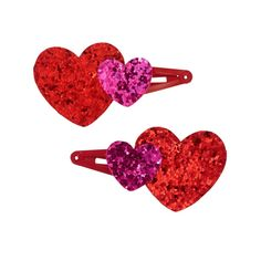 Accessories Candy Red Heart Clips by Gymboree. Manmade materials, Set of two, Keeps hair in place without pulling, Spot clean; imported and Collection Name: Cozy Valentine Red Candy, 9th Birthday, Girls Accessories, Gymboree, Striped Dress, Screen Printing, Heart Ring, Valentines, Gifts