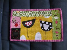 Mug Rug swap by linny34, via Flickr