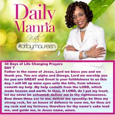 Daily Manna #191 THIRTY DAYS OF LIFE CHANGING PRAYER DAY 7