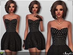 Sims 3 Addictions: Millie Skater Dress by Margies Sims • Sims 4 Downloads