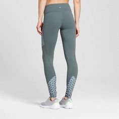 Women's Freedom Leggings with Printed Piecing - C9 Champion - Dark Green Xxl